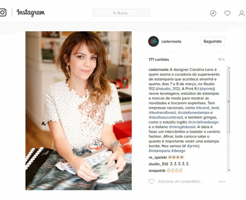 Instagram – Caderno Ela