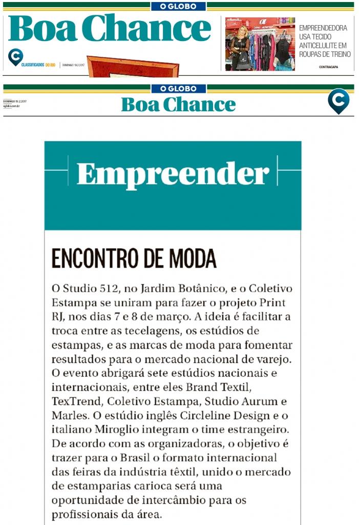 O Globo – Boa Chance